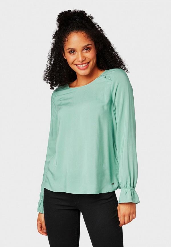 TOM TAILOR Denim | бирюзовый Женская бирюзовая блуза TOM TAILOR Denim | Clouty