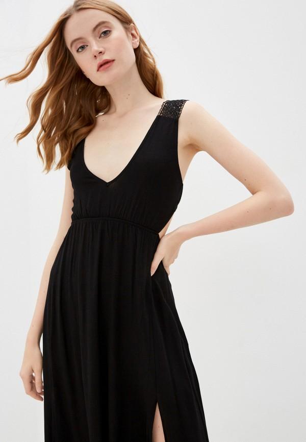 Trendyol | черный Летнее черное пляжное платье Trendyol | Clouty