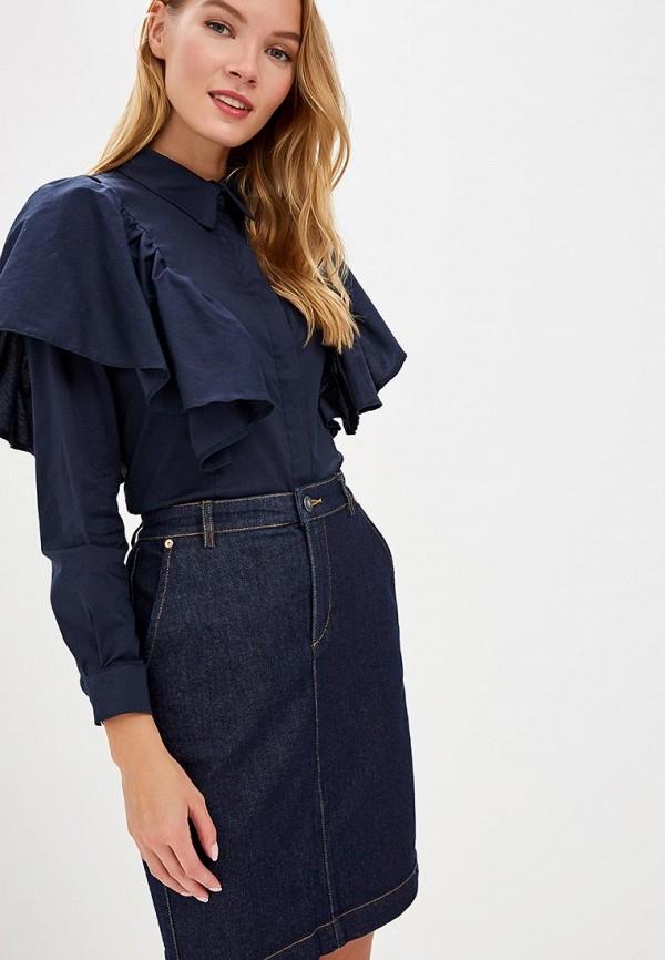 Tutto Bene | синий Женская синяя блуза Tutto Bene | Clouty