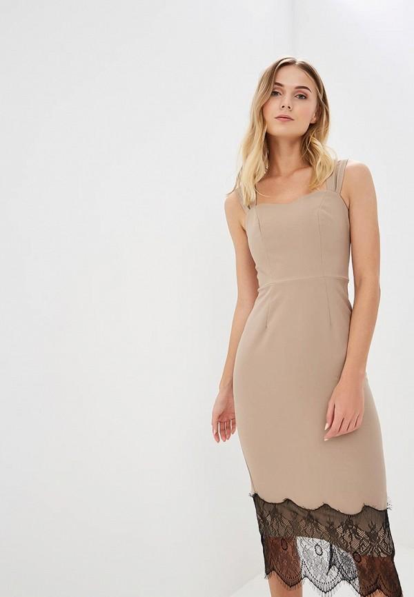 Tutto Bene | бежевый Женское бежевое платье Tutto Bene | Clouty