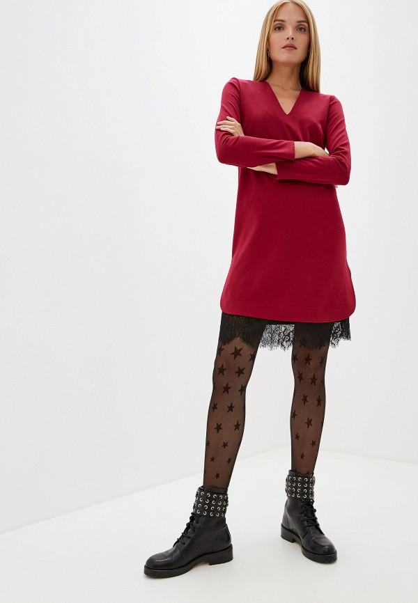 Twinset | бордовый Зимнее бордовое платье Twinset | Clouty