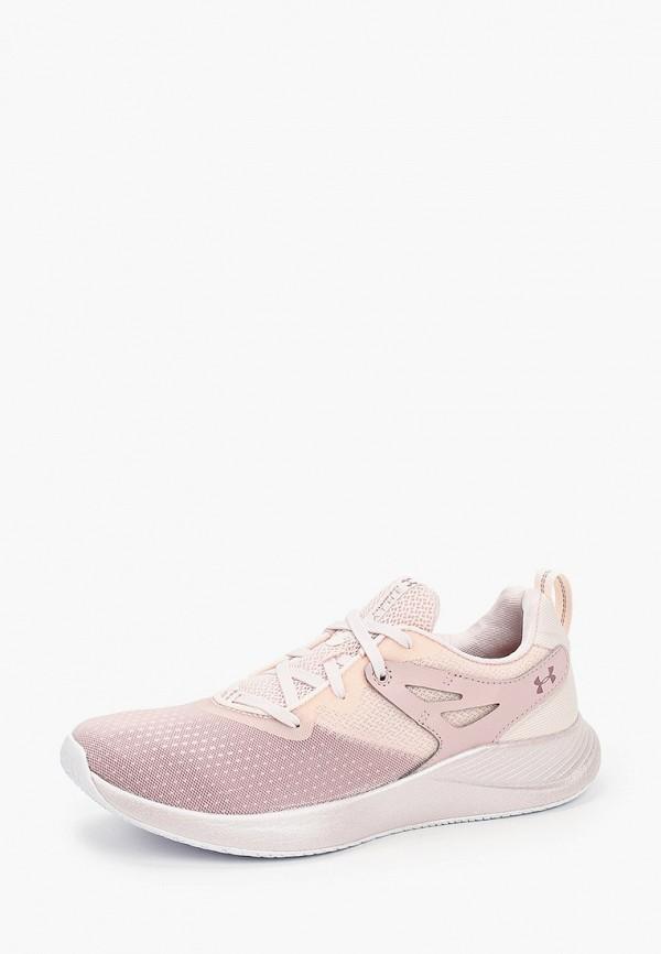 Under Armour   розовый Женские розовые кроссовки Under Armour искусственный материал   Clouty