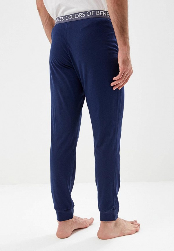 United Colors of Benetton | синий Мужские синие домашние брюки United Colors of Benetton | Clouty