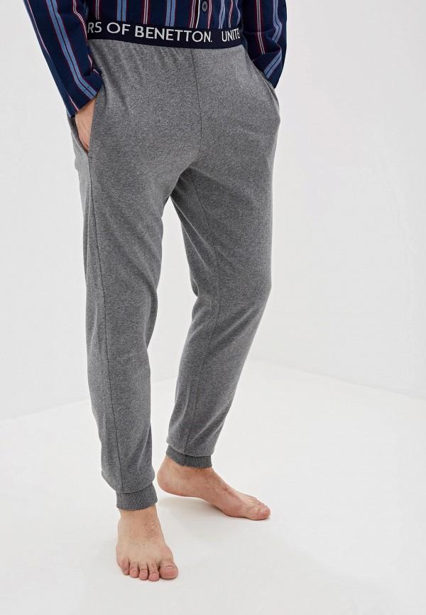 United Colors of Benetton | серый Мужские серые домашние брюки United Colors of Benetton | Clouty
