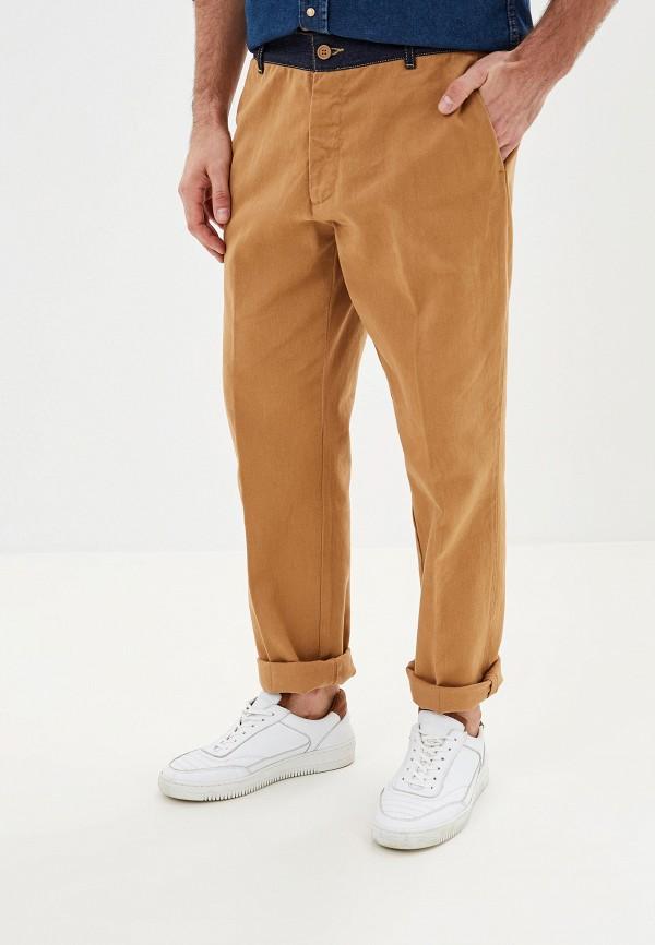 United Colors of Benetton | коричневый Мужские коричневые брюки United Colors of Benetton | Clouty
