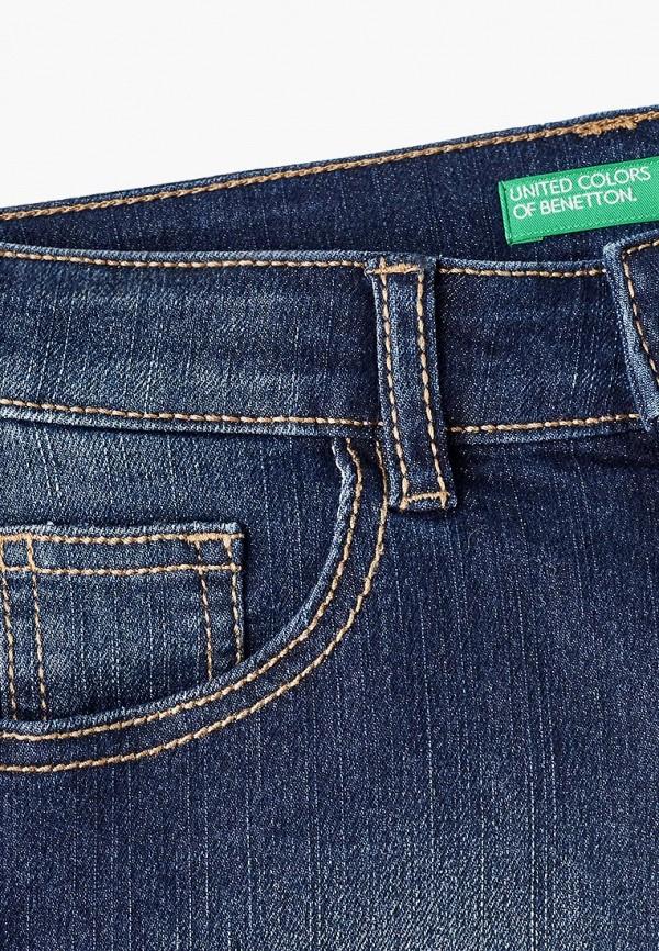 United Colors of Benetton | синий Летние синие джинсовые шорты United Colors of Benetton для девочек | Clouty