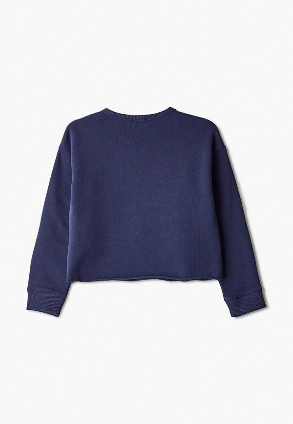 United Colors of Benetton | Синий свитшот United Colors of Benetton для девочек | Clouty