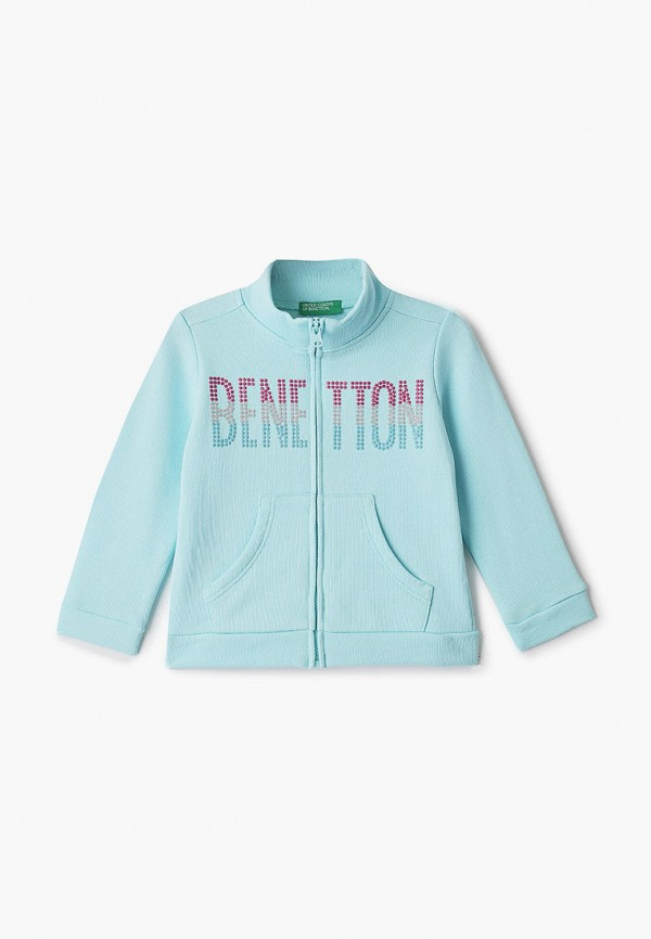 United Colors of Benetton | Голубой олимпийка United Colors of Benetton для девочек | Clouty