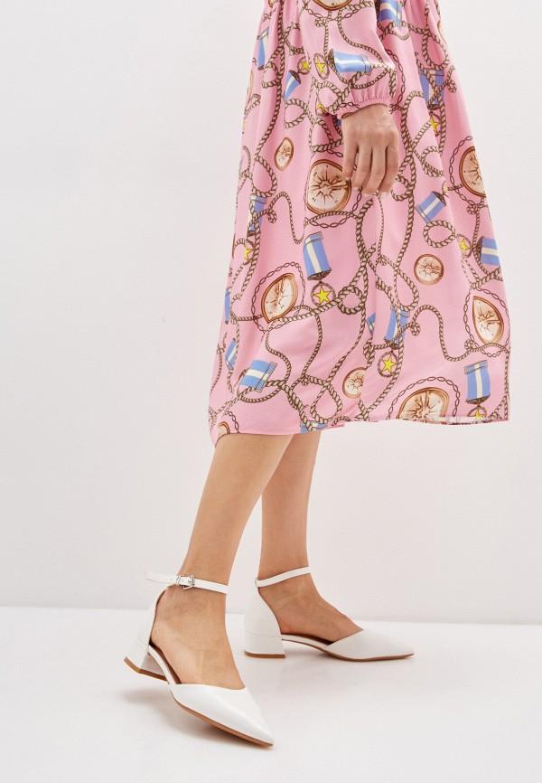 Vera Blum | белый Белые туфли Vera Blum искусственный материал | Clouty