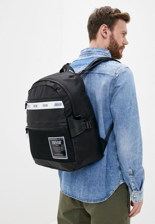 Versace Jeans | Мужской черный рюкзак Versace Jeans | Clouty