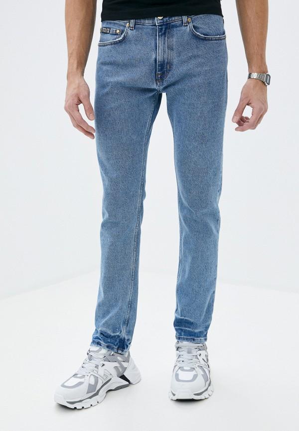 Versace Jeans | голубой Мужские голубые джинсы Versace Jeans | Clouty