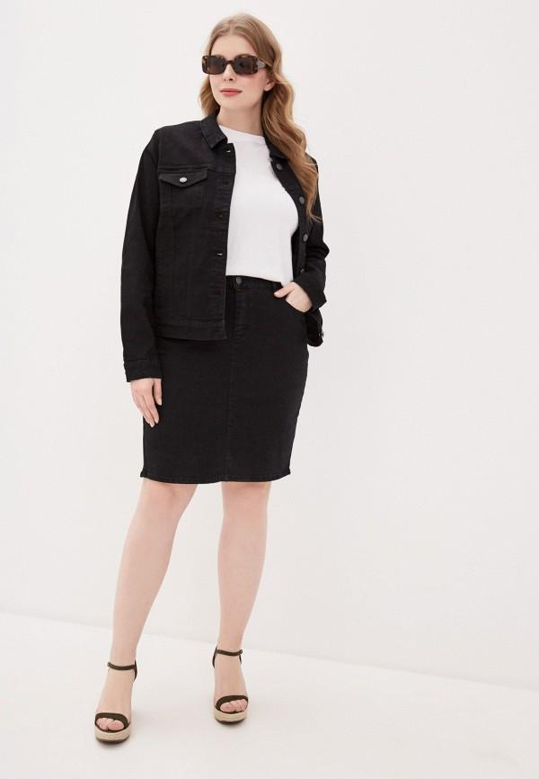 VERO MODA | черный Черная джинсовая юбка VERO MODA | Clouty