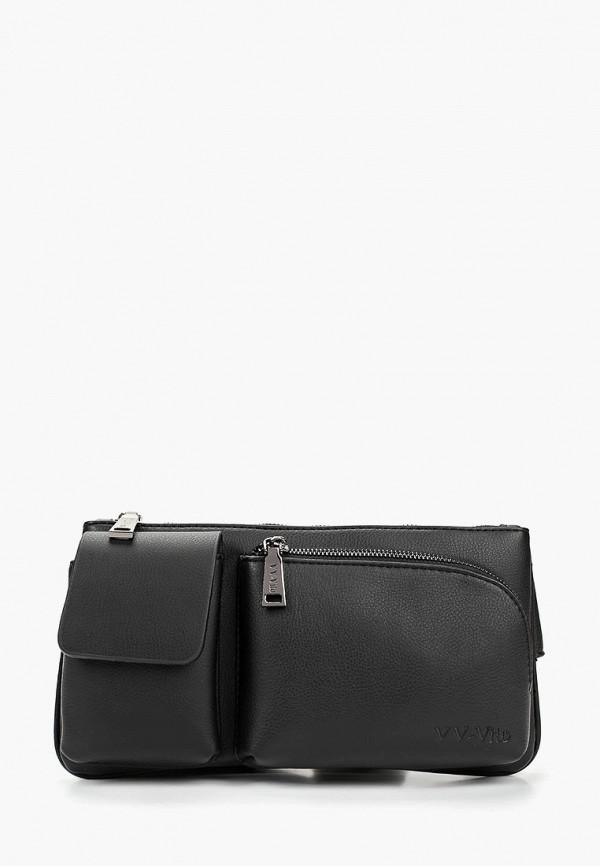 Vera Victoria Vito | черный Мужская черная поясная сумка Vera Victoria Vito | Clouty