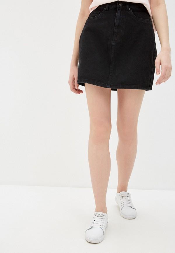 VERO MODA | черный Юбка джинсовая Vero Moda | Clouty