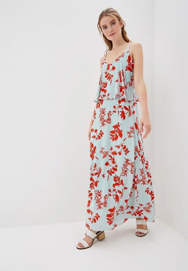 Vila | бирюзовый Летнее бирюзовое платье Vila | Clouty