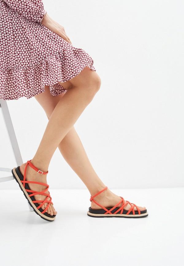 Vic Matiē | красный Женские летние красные сандалии Vic Matiē резина | Clouty