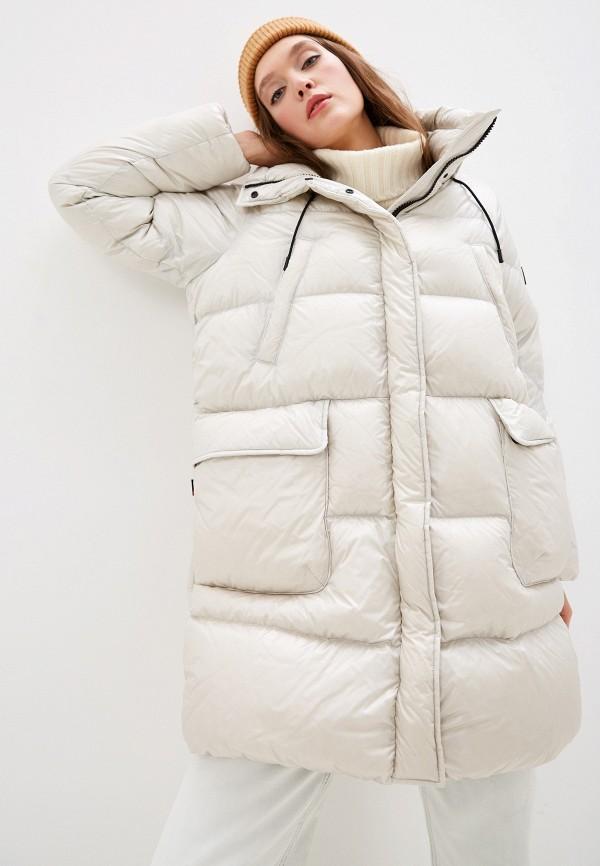 Woolrich   Женский зимний серый пуховик Woolrich   Clouty