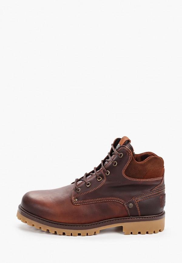 Wrangler | коричневый Мужские зимние коричневые ботинки Wrangler резина | Clouty