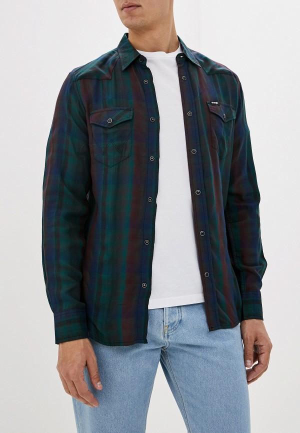 Wrangler | зеленый Мужская зеленая рубашка Wrangler | Clouty
