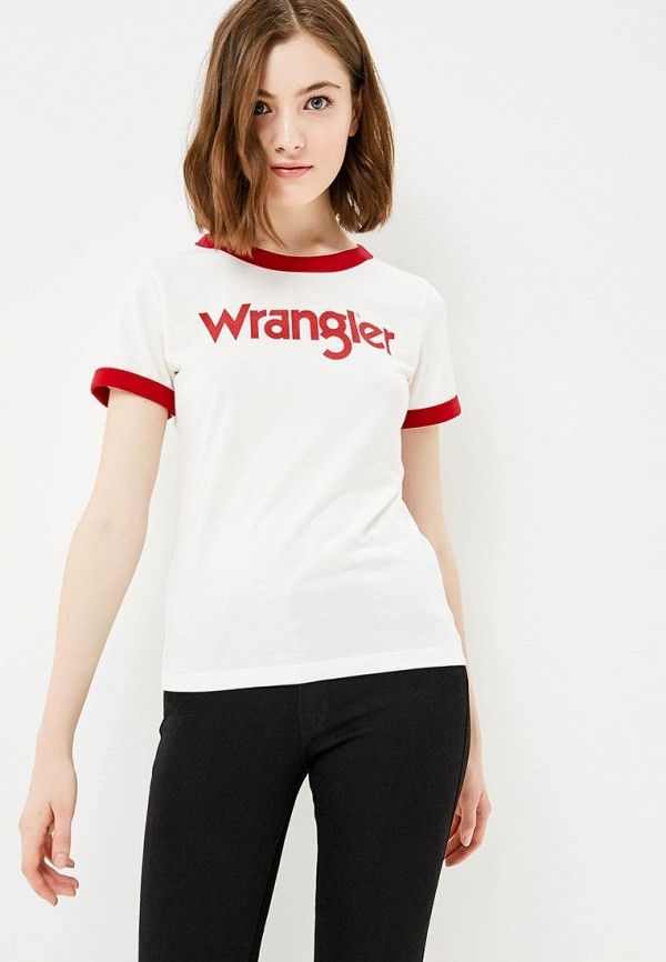 Wrangler | белый Футболка Wrangler | Clouty