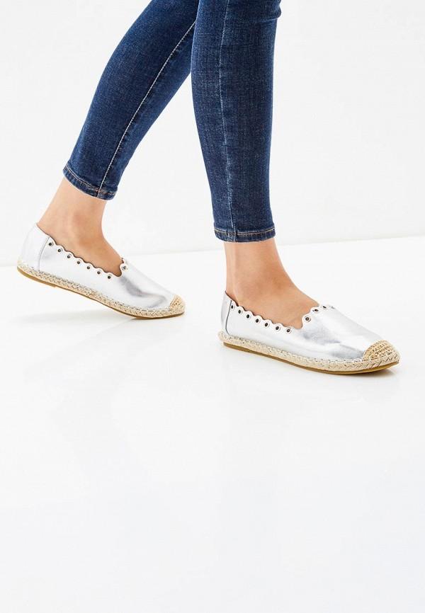 WS Shoes | серебряный Женские летние серебряные эспадрильи WS Shoes искусственный материал | Clouty