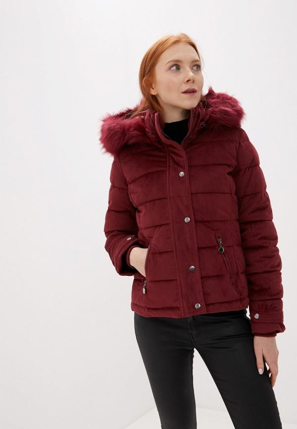 Z-Design | бордовый Женская зимняя бордовая утепленная куртка Z-Design | Clouty