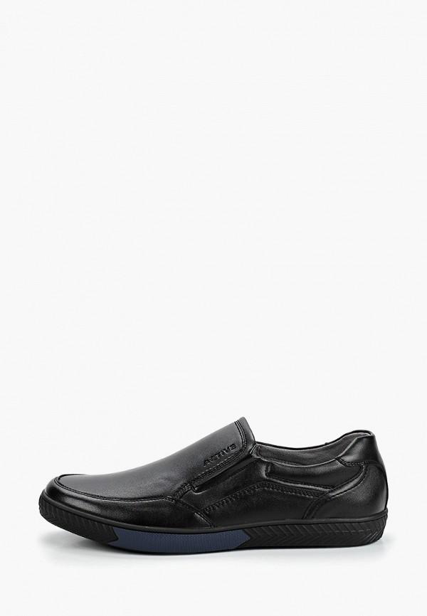 Zenden | черный Мужские черные слипоны Zenden искусственный материал | Clouty