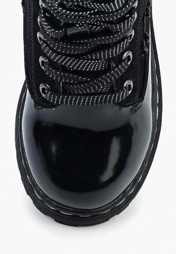 ZeBra | черный Черные ботинки ZeBra искусственный материал для девочек | Clouty