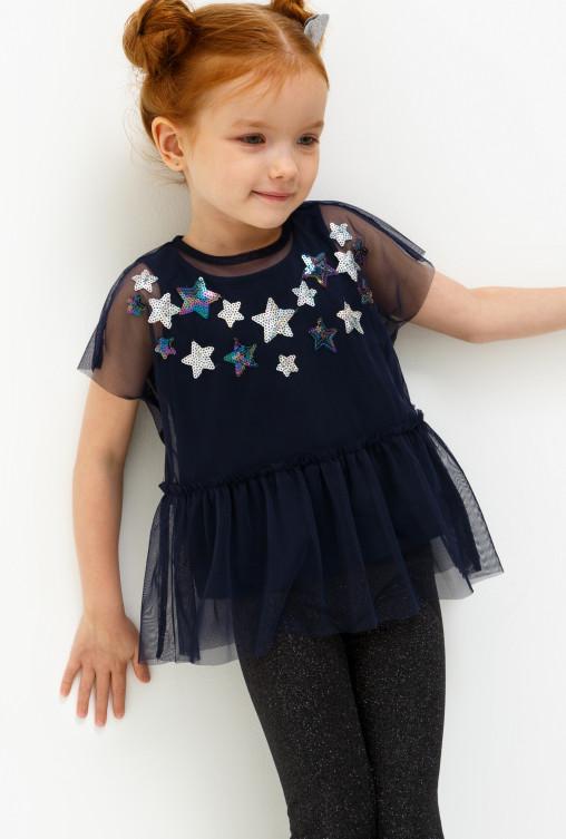 530236ee7a4 Блузка детская для девочек с вышивкой из пайеток CL000017322845 ...