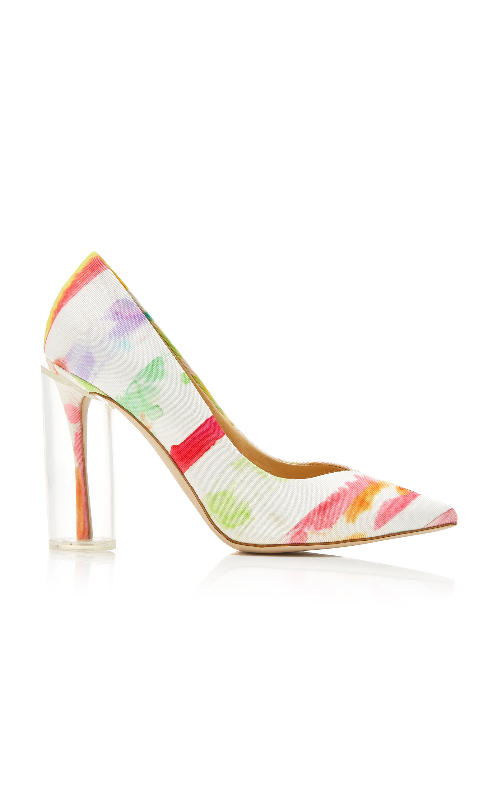 Rosie Assoulin | Rosie Assoulin Exclusive Plexi Printed Cotton-Faille Pumps | Clouty