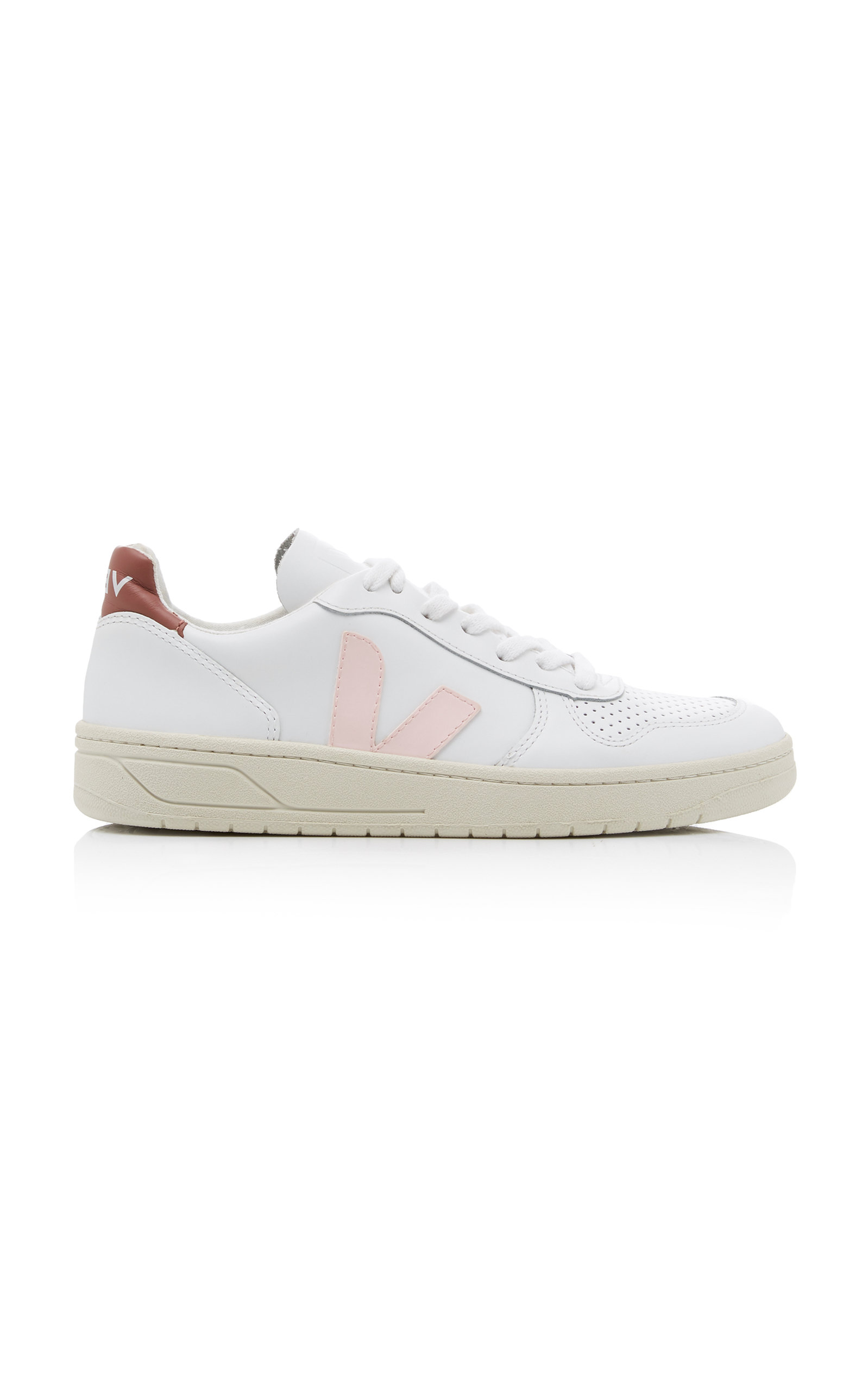 Veja   VEJA V-10 Leather, Mesh, And Suede Sneakers Size: 36   Clouty