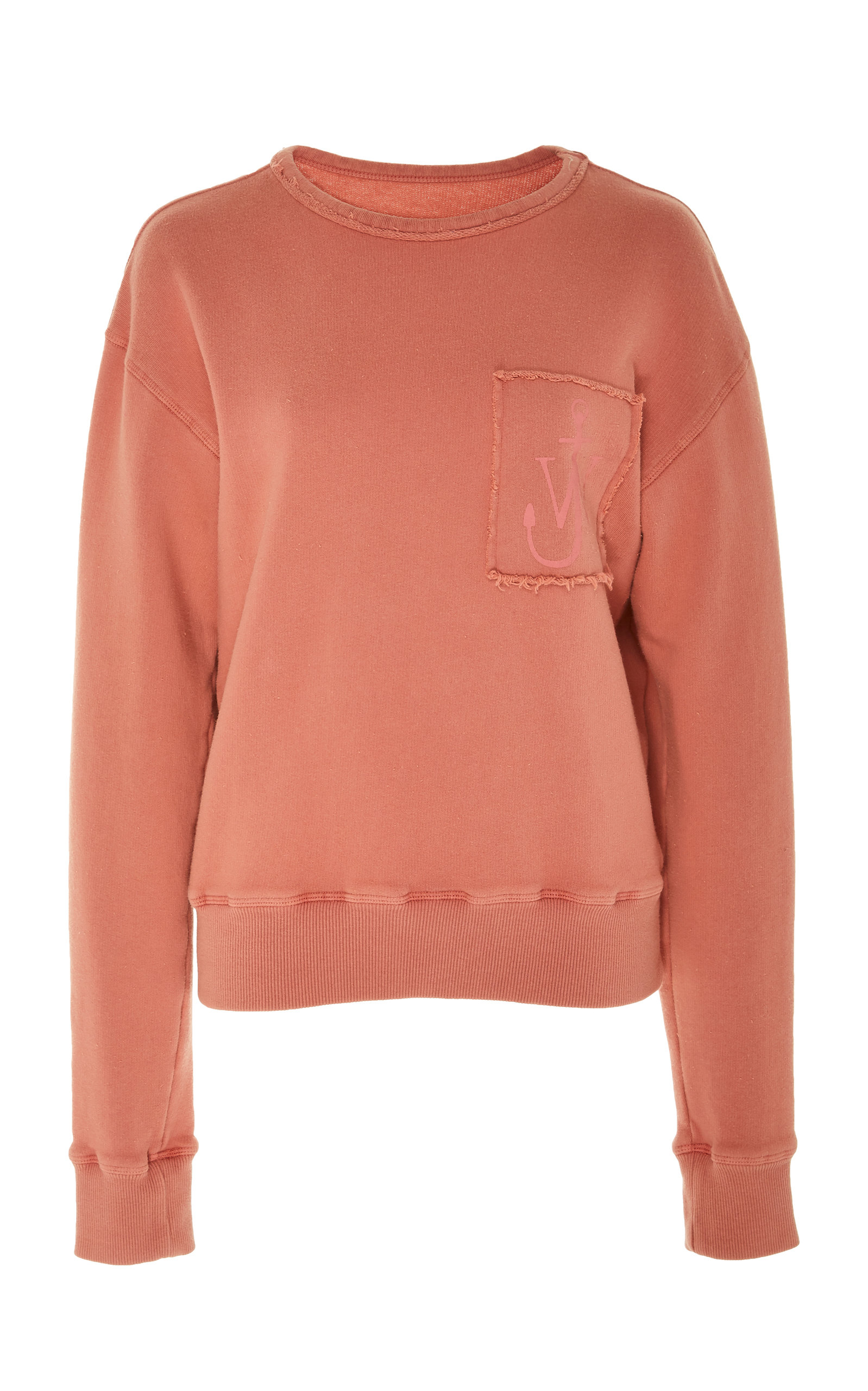 J.W. Anderson | JW Anderson Frayed Embroidered Cotton-Jersey Sweatshirt | Clouty