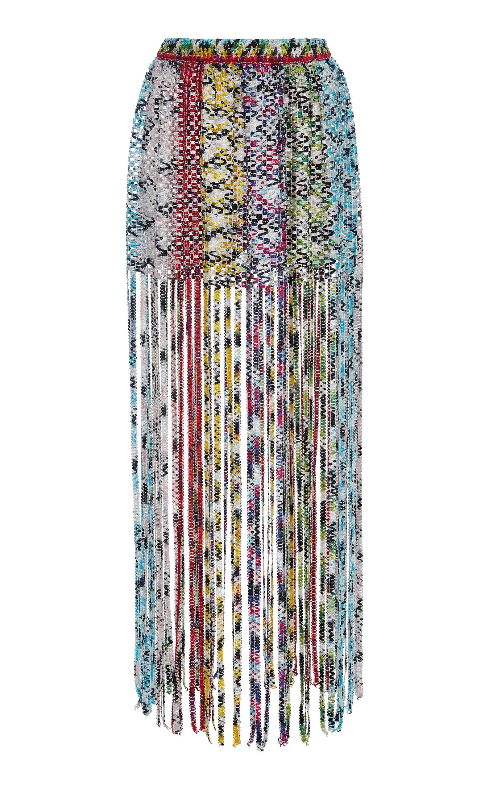 Missoni Mare | Missoni Mare Fringed Woven Mini Skirt | Clouty