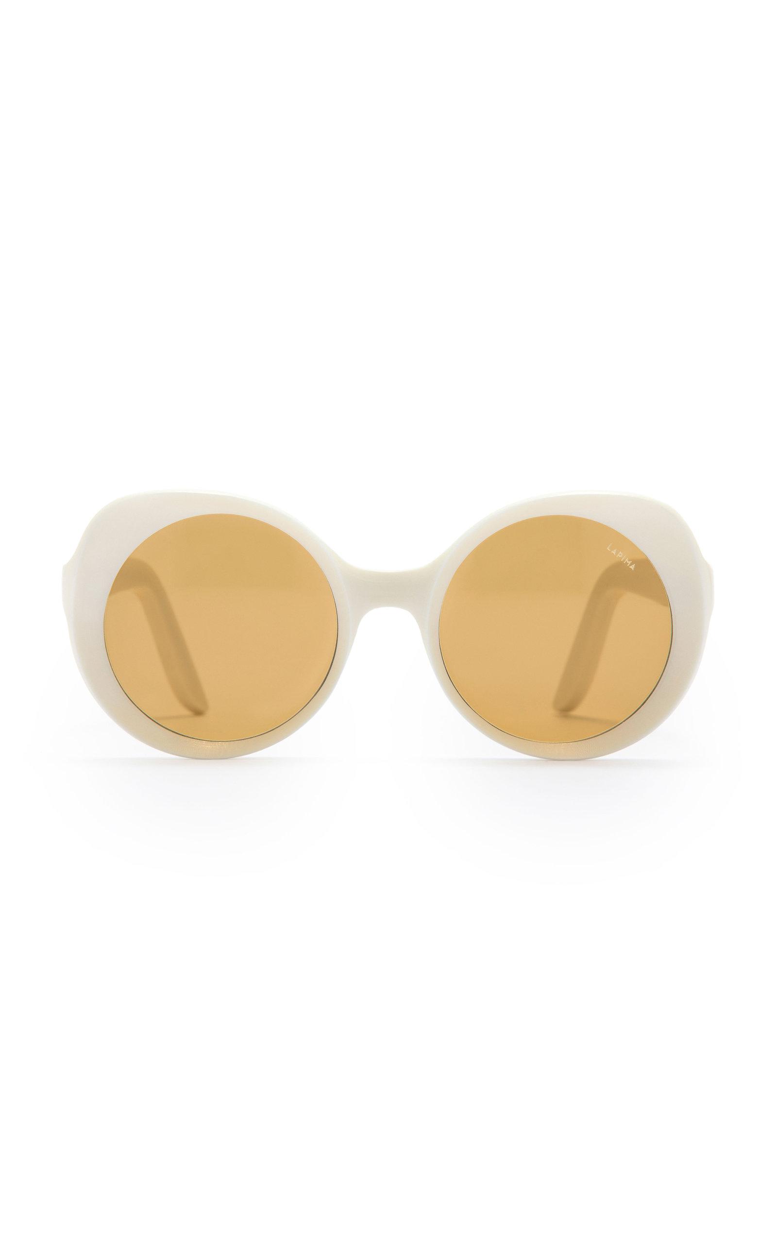 Lapima   Lapima Carlota Round-Frame Acetate Sunglasses   Clouty
