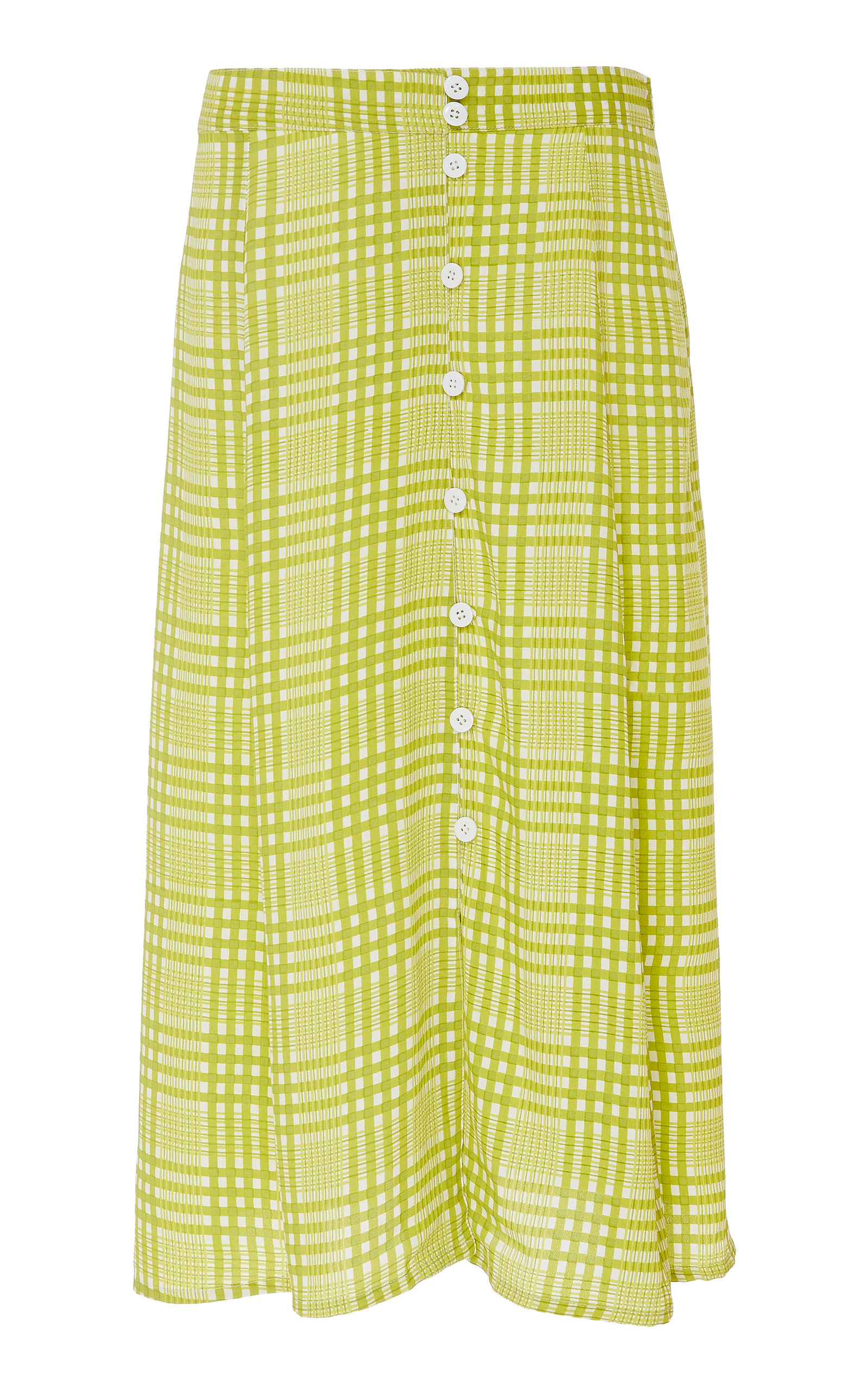 Moda Operandi | Faithfull The Brand Marin Checked Crepe Midi Skirt Size: XS | Clouty