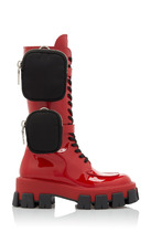 Фото Prada Patent-Leather Combat Boots Size: 36