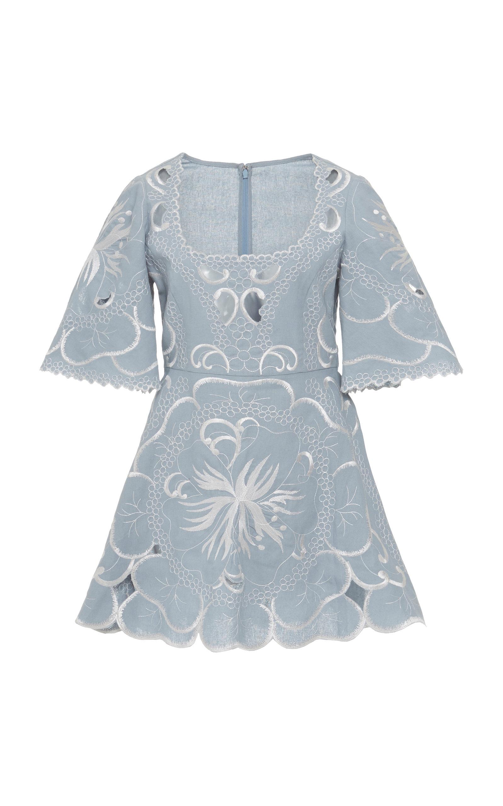 Alice Mccall | Alice McCall Dissolving Hearts Linen Mini Dress | Clouty