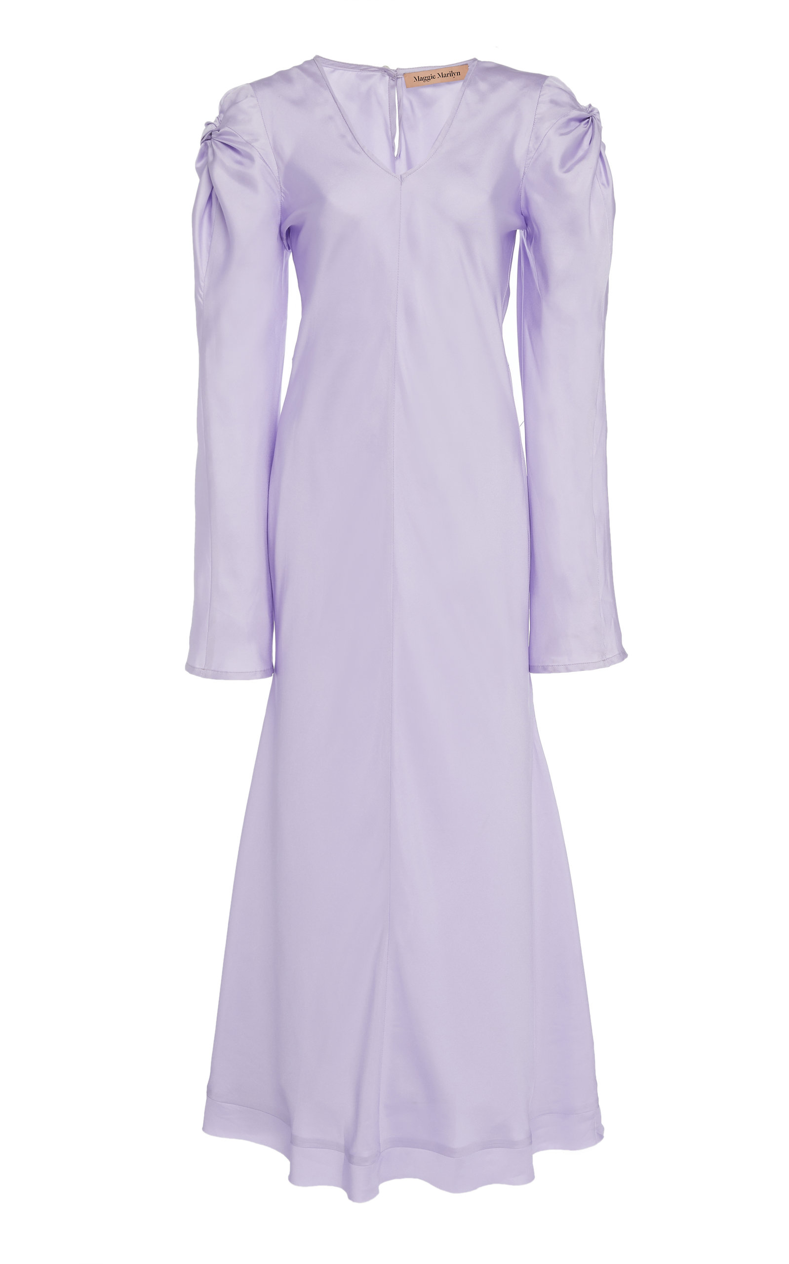 Maggie Marilyn   Maggie Marilyn Knot Today Silk Midi Dress   Clouty