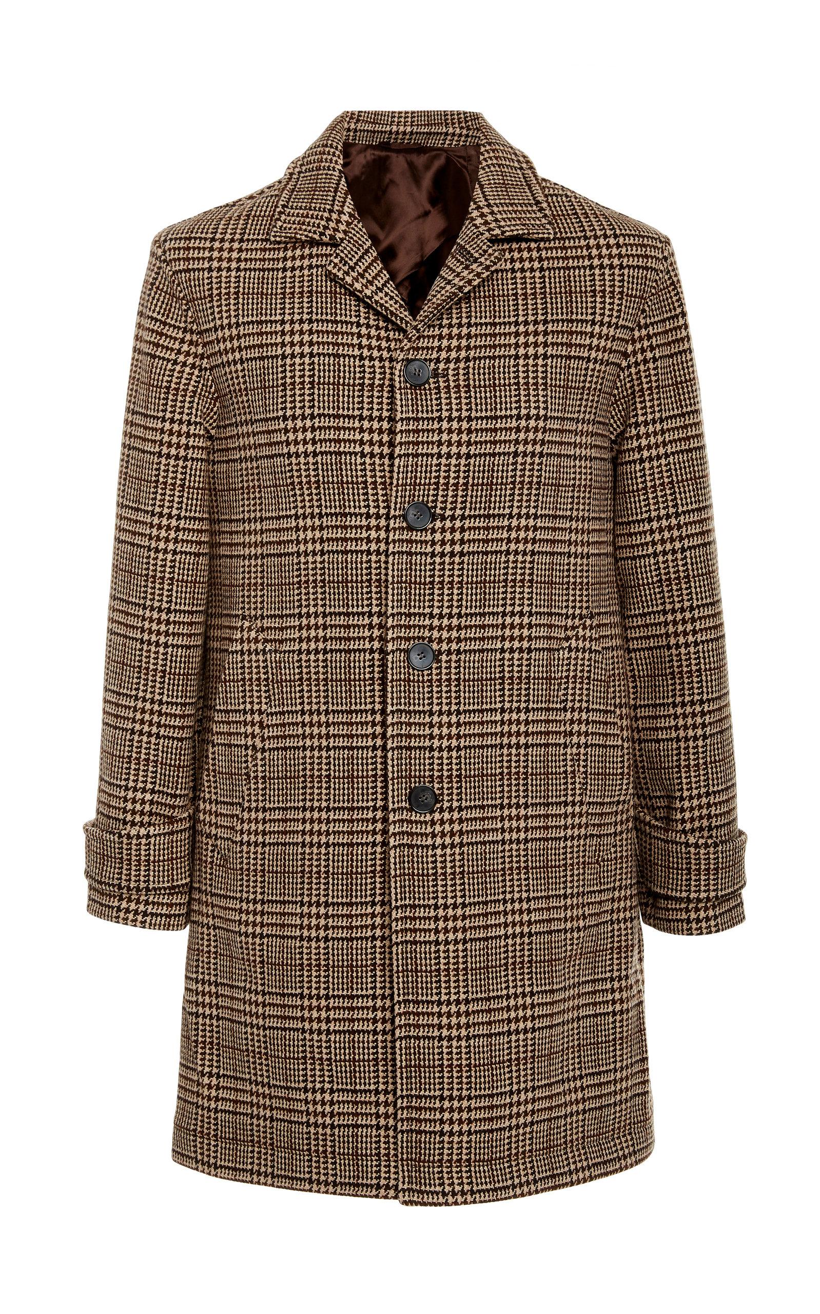 Officine Générale   Officine Generale Stephane Checked Wool-Blend Coat Size: 48   Clouty