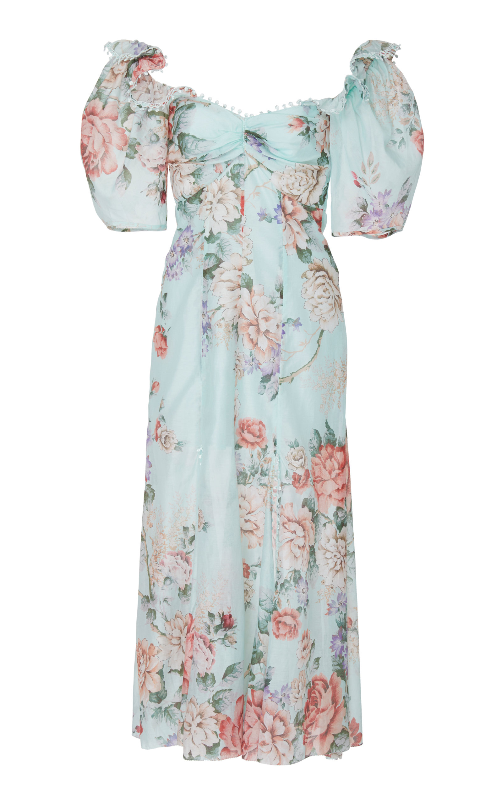 Alice Mccall | Alice McCall Send Me A Postcard Floral Silk Midi Dress | Clouty