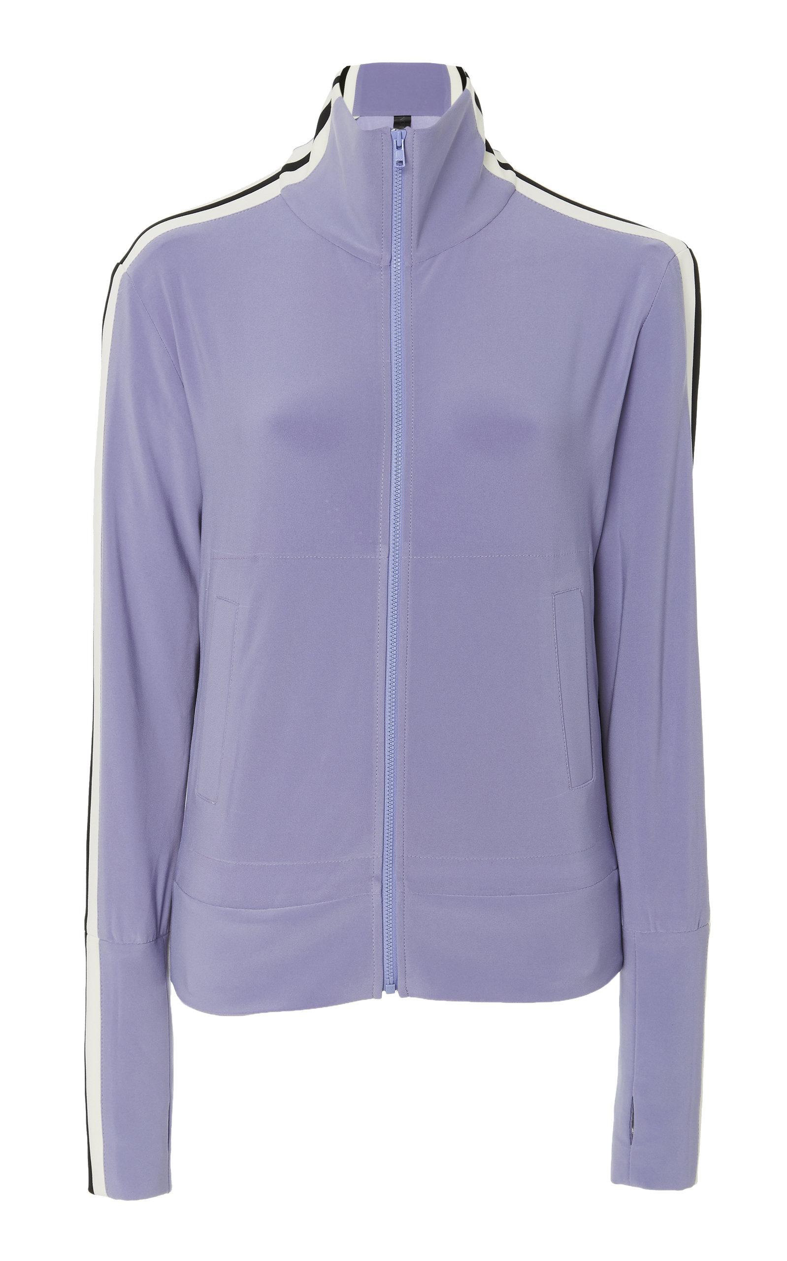 Norma Kamali   Norma Kamali Crewneck Zip-Up Sweater   Clouty
