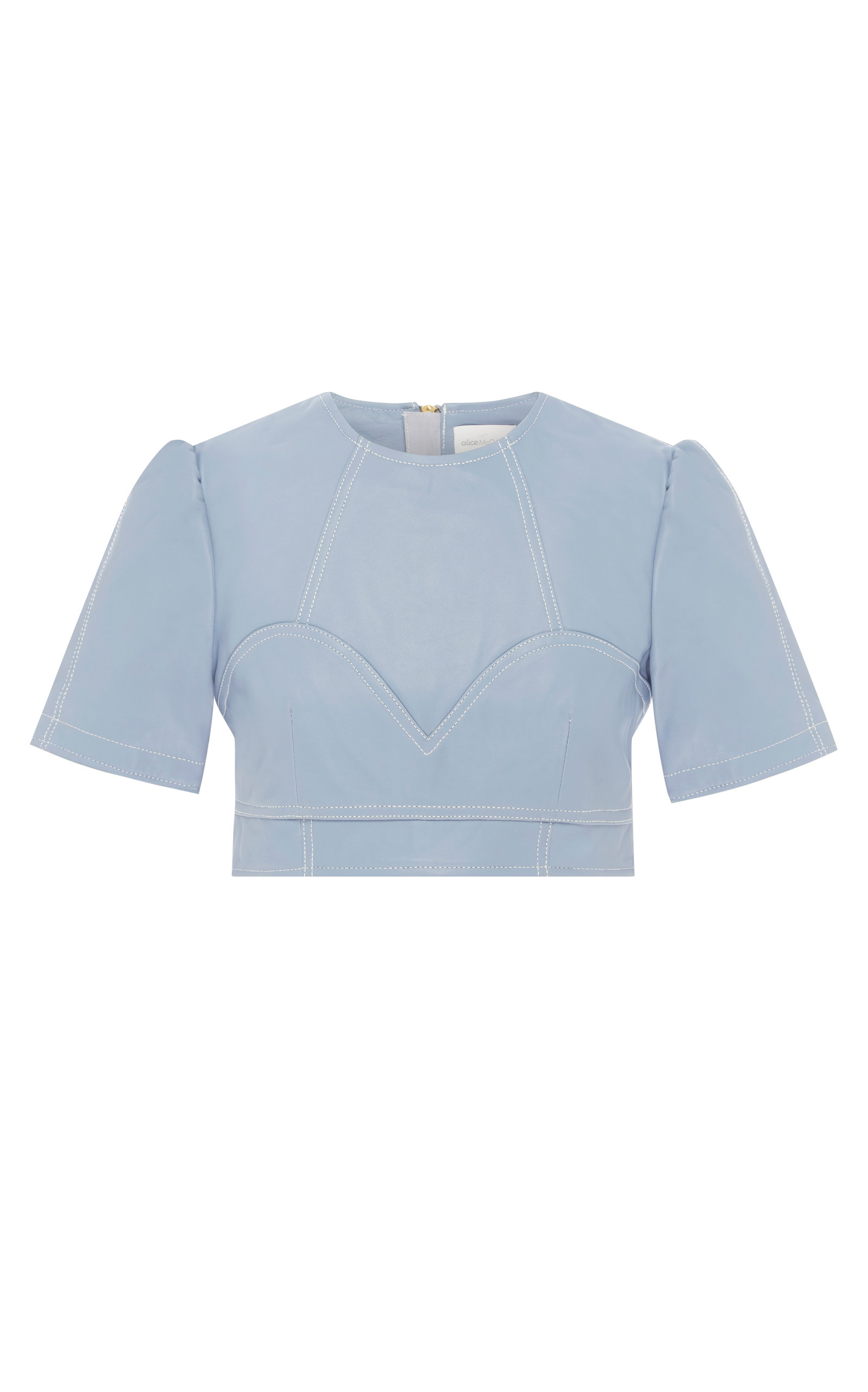 Alice Mccall | Alice McCall Incantations Lamb Leather Crop Top | Clouty