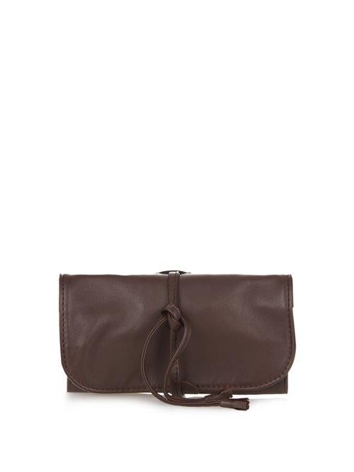 Lorenzi Milano | Lorenzi Milano - Travelling Leather Watch Case - Mens - Brown | Clouty