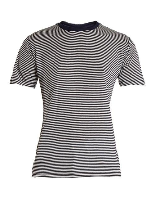 Eve Denim | Eve Denim - Alexa Striped Jersey T Shirt - Womens - Blue Multi | Clouty