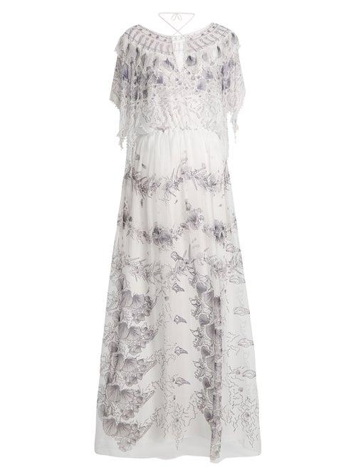 Zandra Rhodes | Zandra Rhodes - Archive Ii The 1973 Seashell Star Gown - Womens - Cream Multi | Clouty