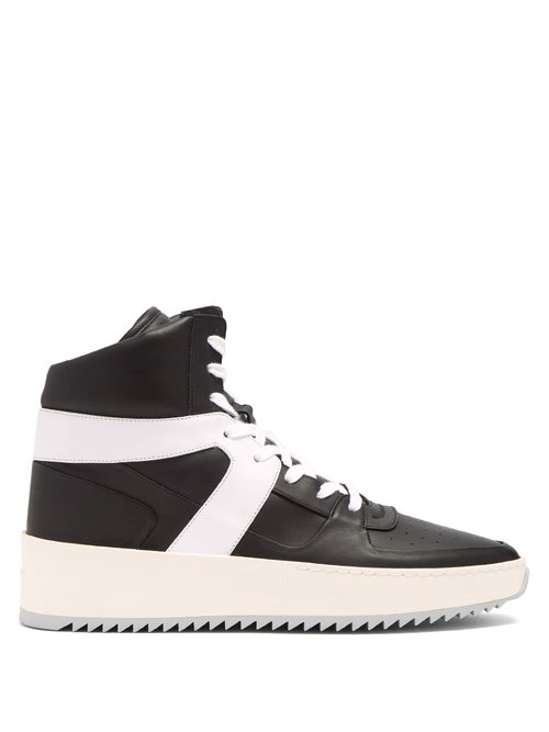 Fear Of God | Fear Of God - High Top Leather Trainers - Mens - Black Multi | Clouty