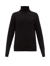 Raey - Roll Neck Cashmere Sweater - Mens - Black