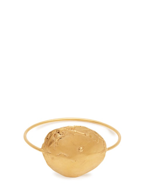 Alighieri - The Dance Of The Storm Gold Plated Bangle - Womens - Gold | Clouty