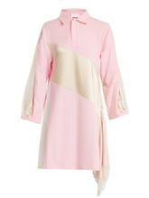 Koche - Lace Trimmed Oversized Cotton Shirtdress - Womens - Pink White