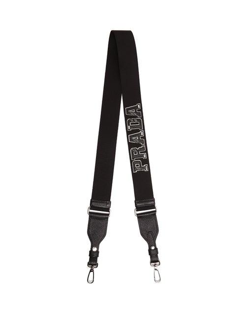 PRADA | Prada - Letter Leather Bag Strap - Mens - Black | Clouty
